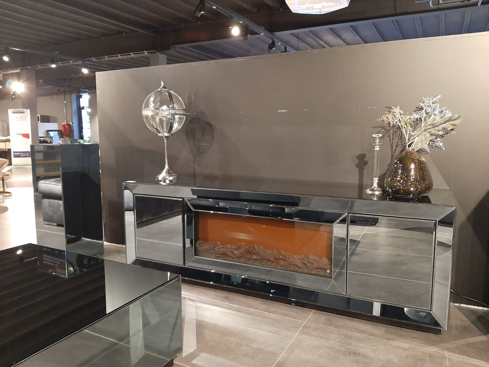 Casa Mirror/Spigel Sfeerhaard Tv unit