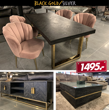 Black Gold/Silver Tafel Set