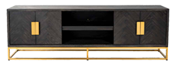 Black Gold Tv Unit